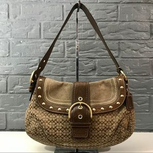 Authentic Coach Studded Hobo Bag